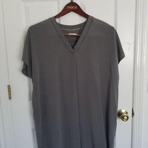 Vince gunmetal silk dress